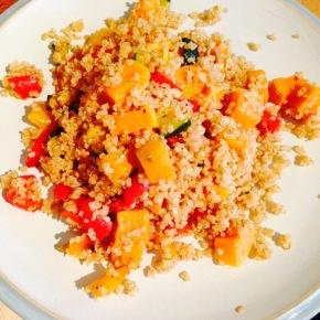 Speedy quinoa lunch…