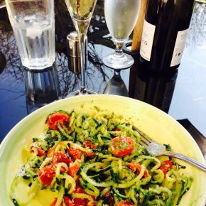 The first al fresco lunch of the year…Lovely