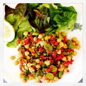 Lovely lentil salad…
